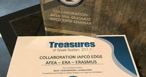 "AFEA, ERASMUS and ERA win ""Best Performing Companies"" award at the ""Treasures of Greek Tourism 2017"" awards"