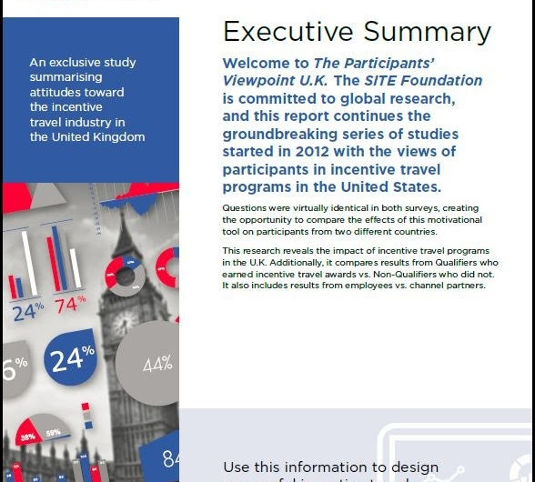 SITE Study Shows Incentive Travel in the U.K. Generates Employee Engagement