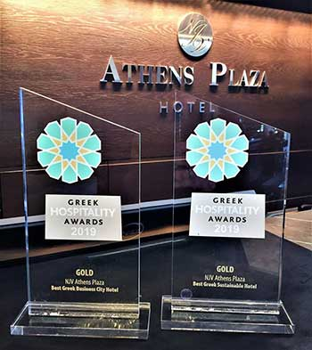 Best Greek Business City Hotel & Best Greek Sustainable Hotel απέσπασε το NJV Athens Plaza