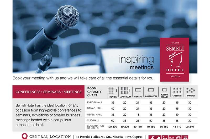 SEMELI HOTEL: Iδανικό για συνέδρια και επαγγελματικές εκδηλώσεις!